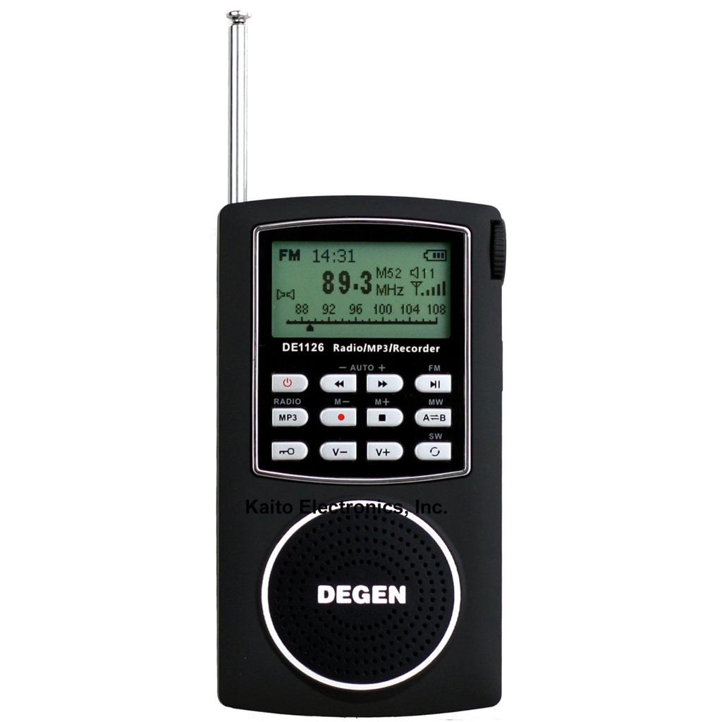 Degen DE1126 Ultra-Thin AM/FM/SW Radio with 4GB MP3 Player, Voice Recorder & E-book Reader at Sears.com