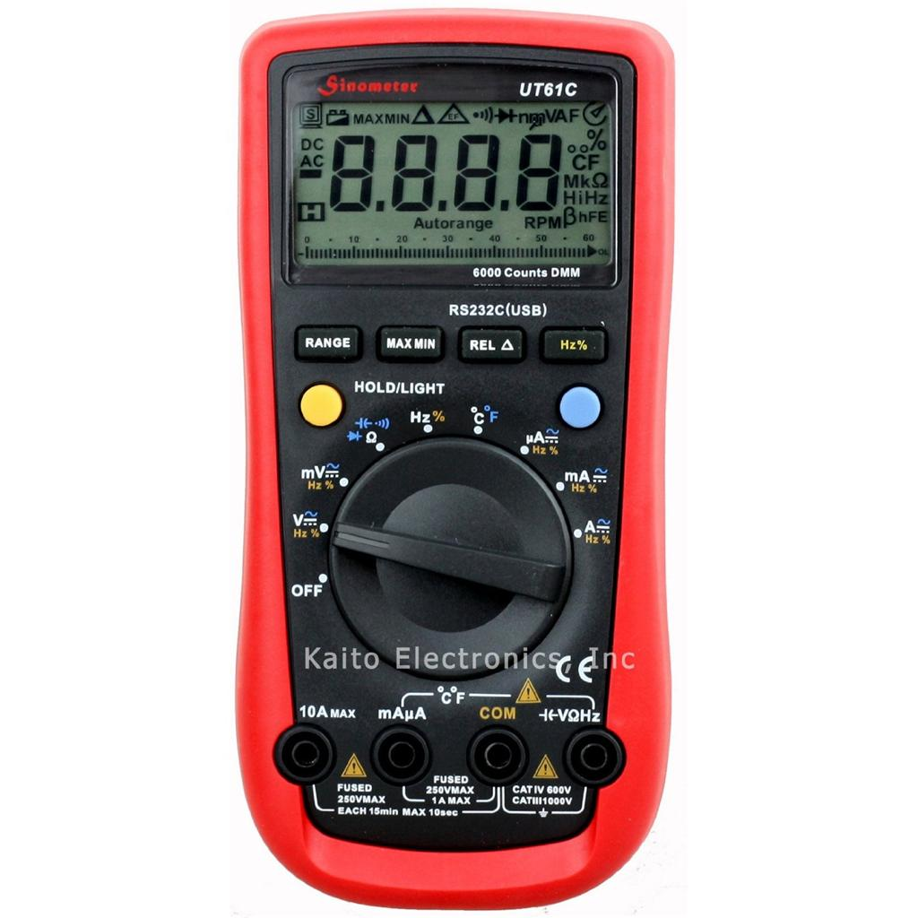 Sinometer UT61C PC RS232 Auto Range Digital Multimeter at Sears.com