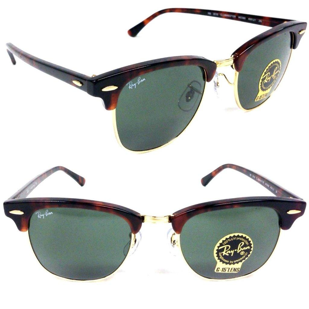 ray ban clubmaster sunglasses rb3016  NEW RAY BAN RB3016 CLUBMASTER WO366 SUNGLASSES GENUINE AUTHENTIC ...