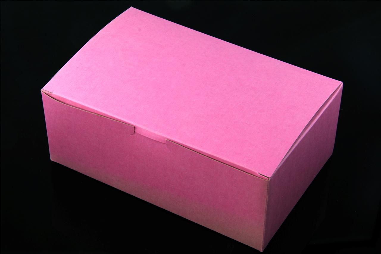 Pink Cake Boxes Wholesale BalsaCircle 100 4x4x2 Cake Wedding Favors Boxes With Tuck Top