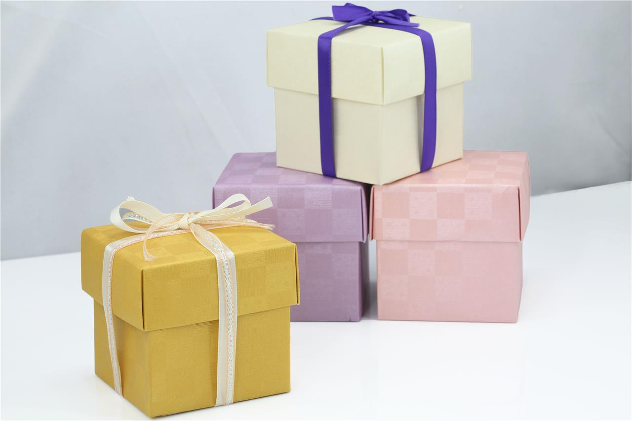Baby Shower Favor Boxes Uk : Quot cube wedding favor gift box w lid pastel bridal baby