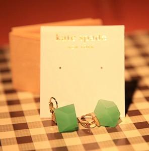 Kate Spade Jade Emerald Green Crystal Clip Earrings *U.S Seller* Gift