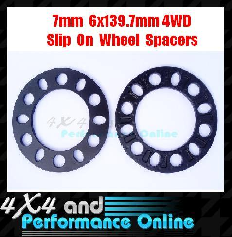 7mm-Thk-6-Stud-x-139-7-PCD-4WD-4x4-Wheel-Rim-Spacers-Landcruiser-Hilux