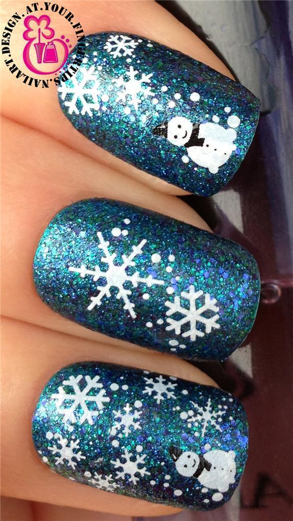 CHRISTMAS-NAIL-ART-STICKERS-WATER-DECALS-TRANSFERS-SNOWFLAKES-SNOWMEN-SANTA-BELL