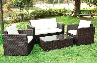 Outdoor Sectionals on Outdoor Rattan Sofa Set Patio Garden Furniture Wicker Sectional