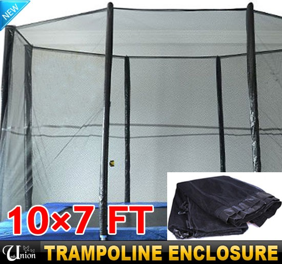 Outdoor 10×7 FT Rectangle Trampoline Enclosure New Safety
