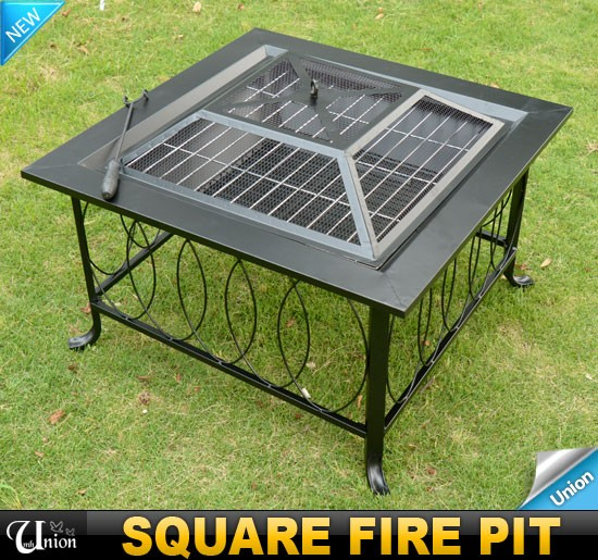 New Patio Metal Deck Fire Pit Garden Stove Backyard With