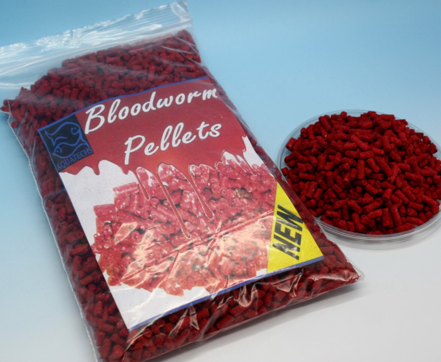 Aquatechs bloodworm pellets fish food tropical coldwater for Bloodworms fish food