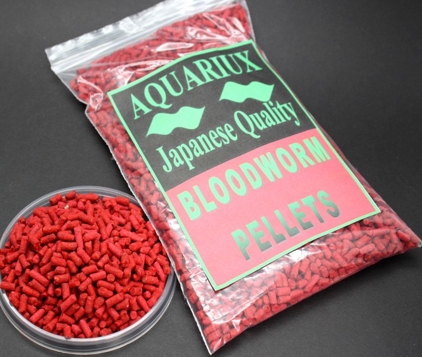 Aquariux bloodworm pellet fish food pellet feed for for Bloodworms fish food