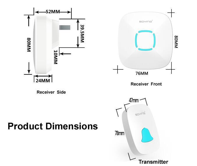 36 tune melody wireless remote control doorbell door bell