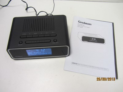 goodmans gcr1880dab digital alarm clock radio ebay. Black Bedroom Furniture Sets. Home Design Ideas