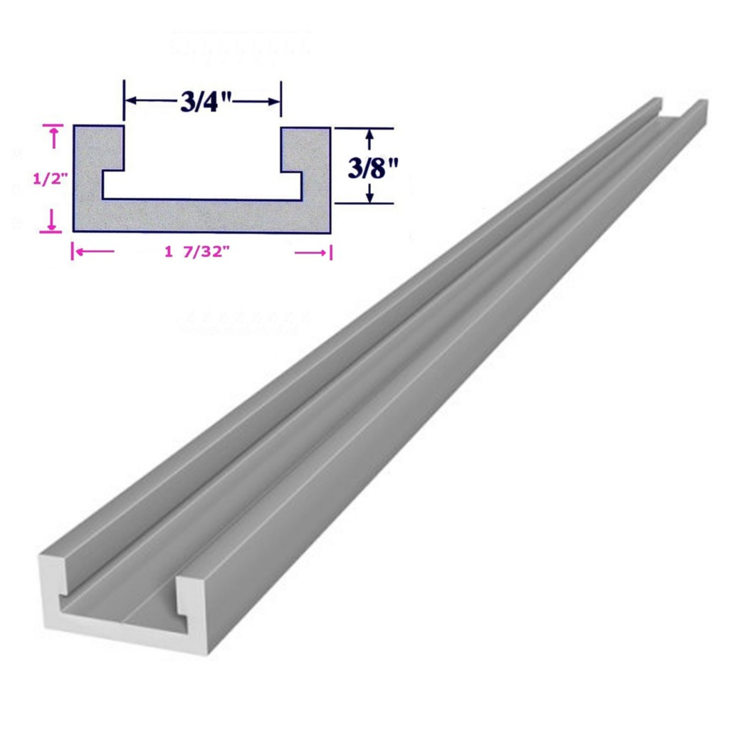 """32"""" or 36"""" inch T Track T Slot Miter Track Jig Fixture Slot for"""