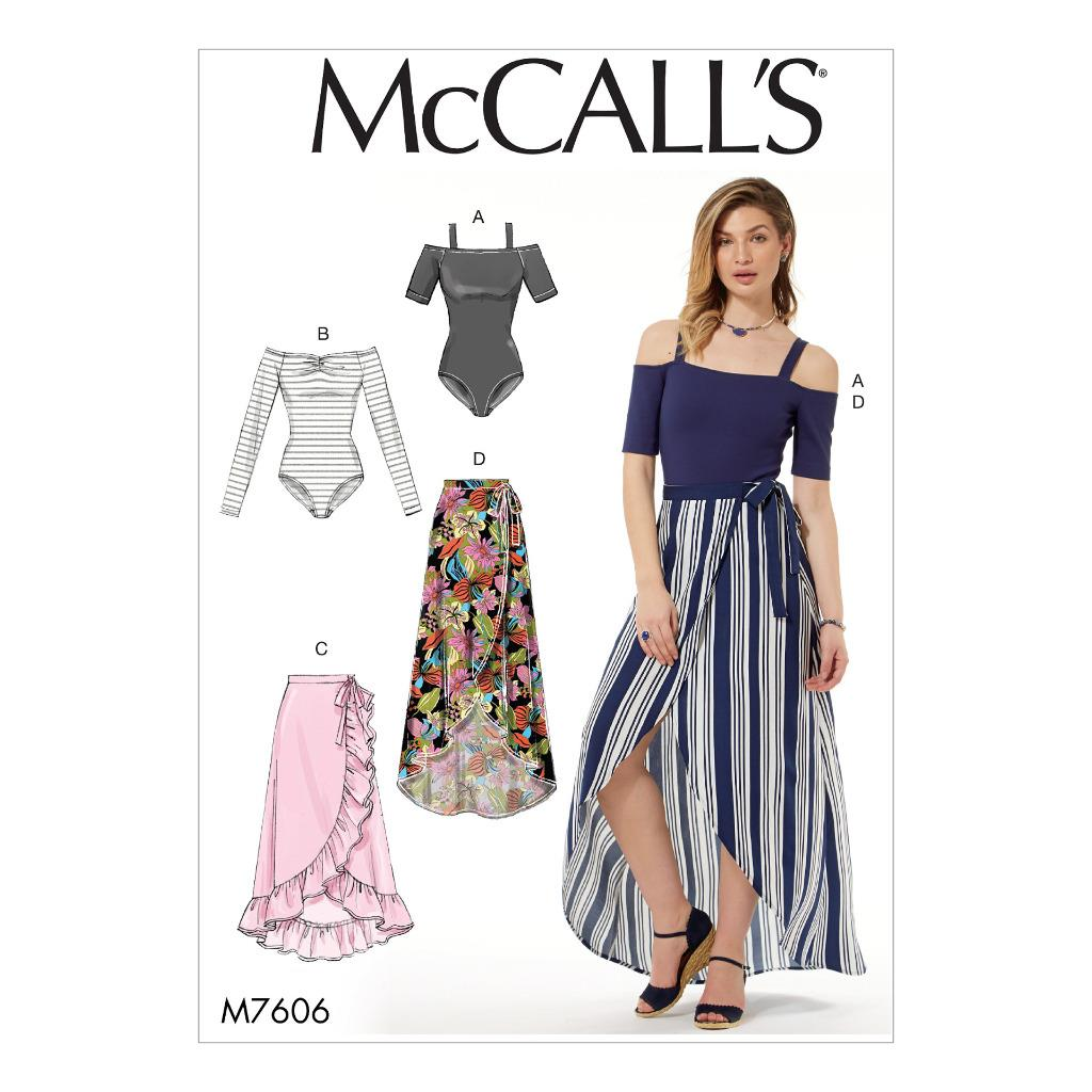 Mccalls sewing pattern misses bobysuits wrap skirts size xsm image is loading mccall 039 s sewing pattern misses 039 bobysuits jeuxipadfo Choice Image