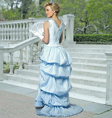COSPLAY McCALL\'S SEWING PATTERN SQUARE-NECK TOP PLEATED BUSTLE SKIRT ...
