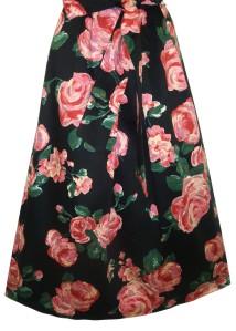 Pink Rose Floral Print 50s Retro Midi Dress Plus Size 16 32