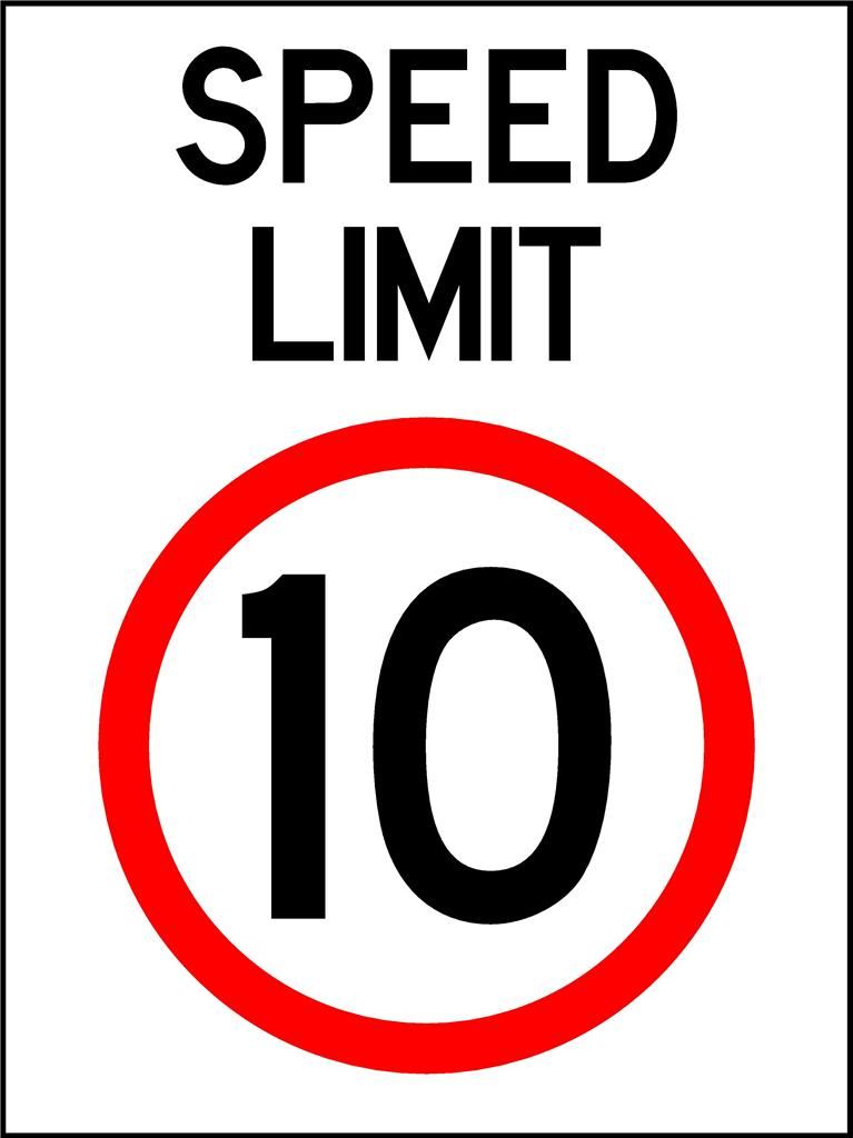 Speed limit 10km h 600 x 450mm traffic sign ebay for De signs