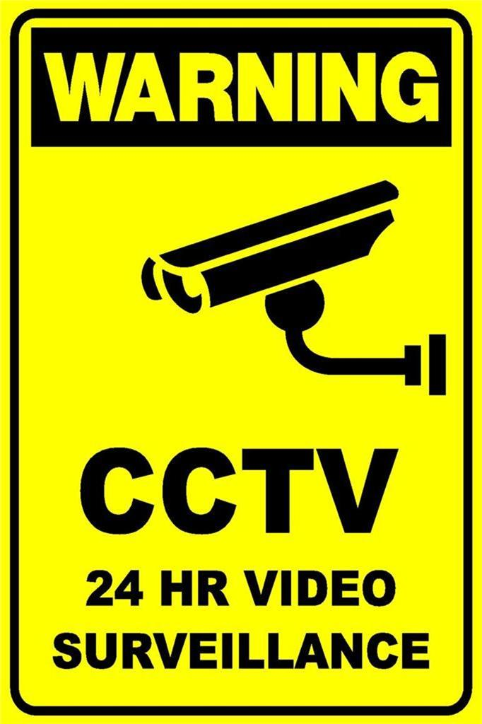 Security Monitoring Sign 2 Signs Cctv Security Camera