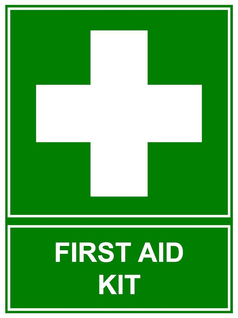 First Aid Sign : First aid kit sign mm corflute emergency