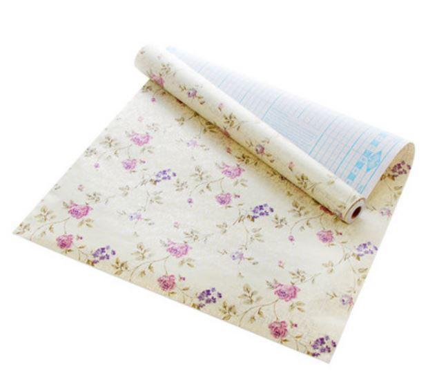 200*45cm Cuttable Floral Adhesive Sticker Roll Wall Shelf Drawer Liner Decor