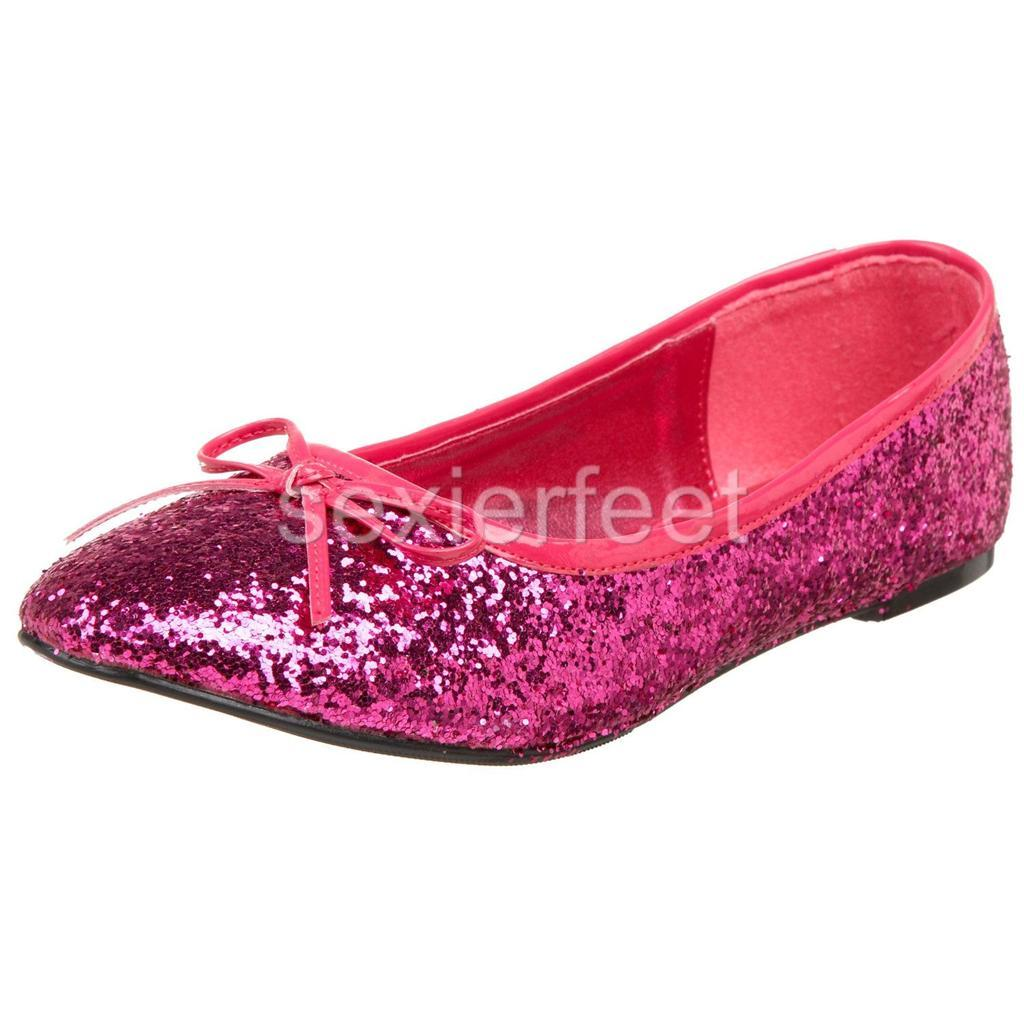pleaser s glitter flats shoes star16g ebay