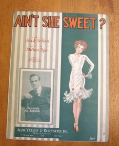 sheet music of a song     aint she sweet
