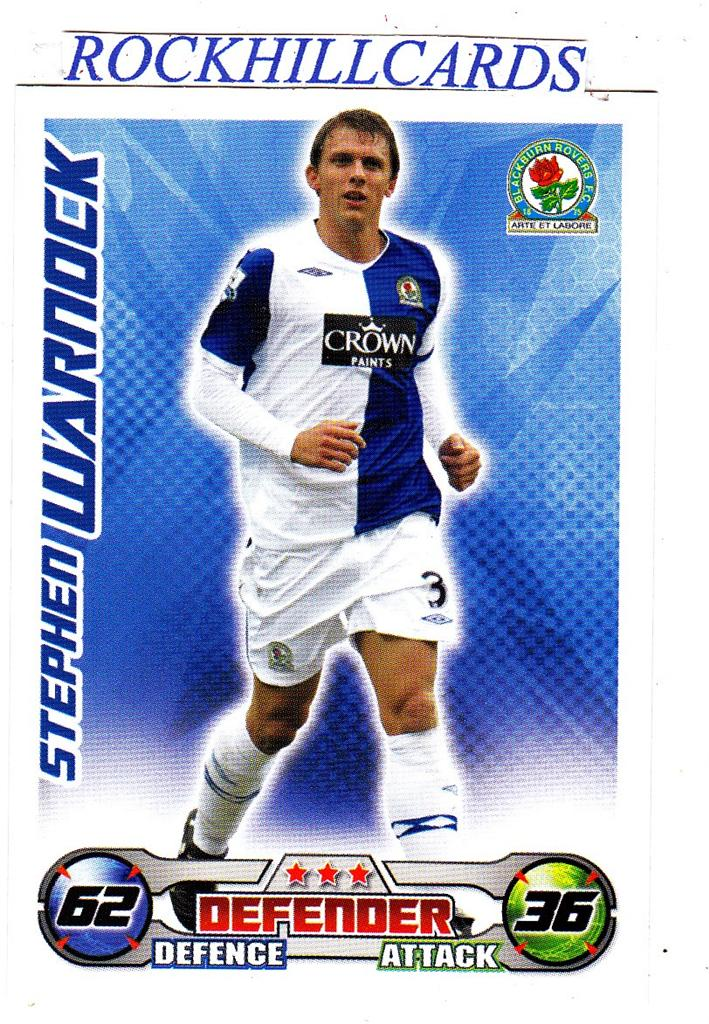 MATCH-ATTAX-08-09-PICK-YOUR-OWN-BLACKBURN-ROVERS-BASE-CARD-STAR-PLAYER-2008-2009