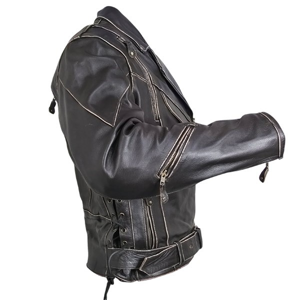 Женская байкерская кожаная куртка косуха B-7005 Womens Classic Женские.