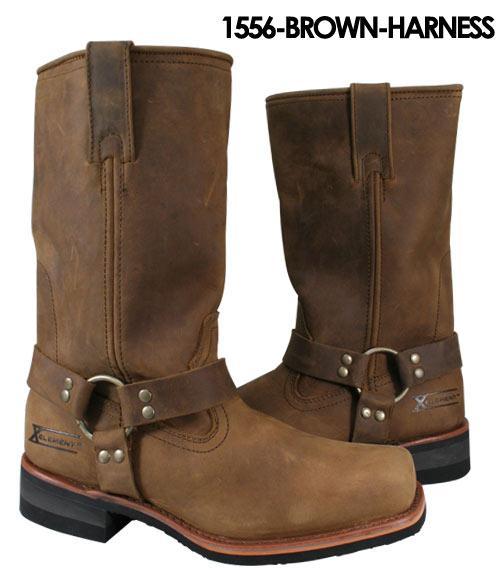 s craze brown harness motorcycle boots 10 ebay