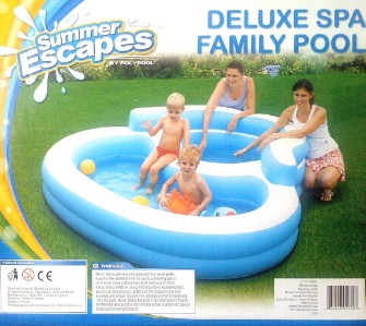 Summer escapes deluxe family kids paddling pool spa new ebay for Family paddling pool