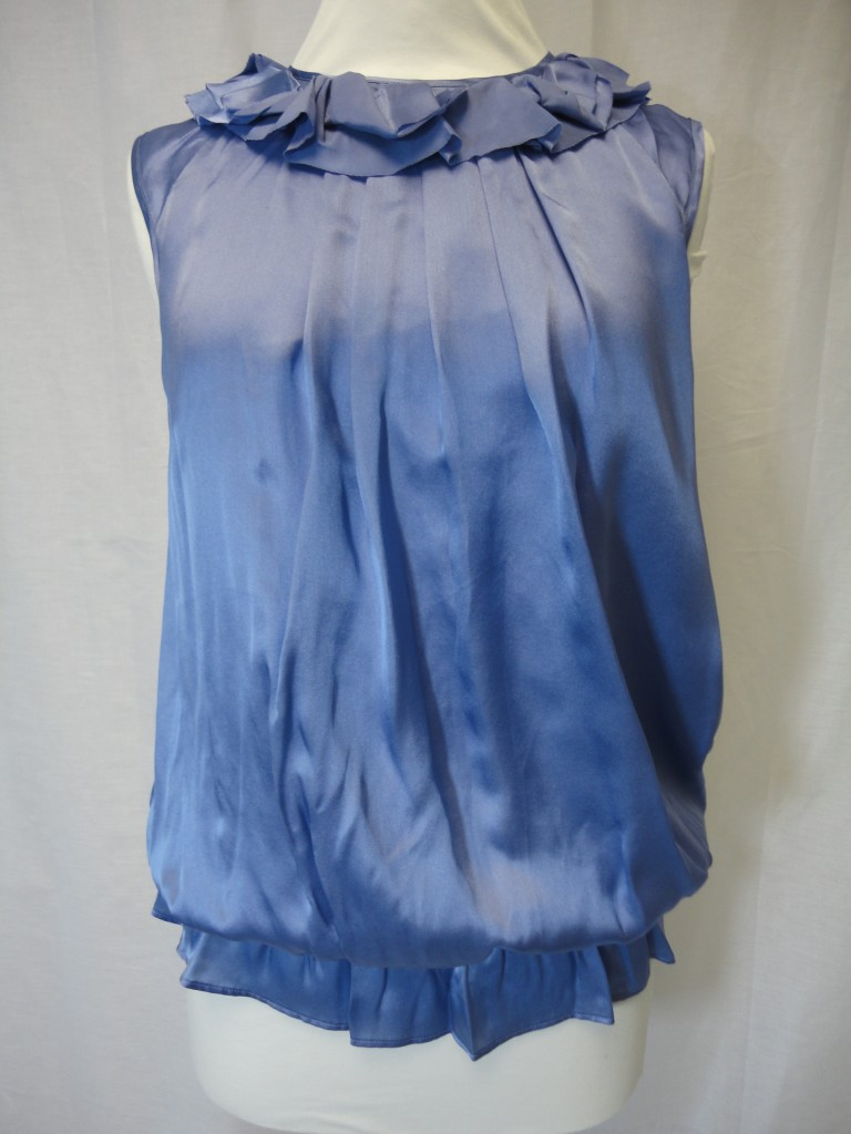 Ex-Pied-A-Terre-100-silk-sky-blue-frilled-lined-top