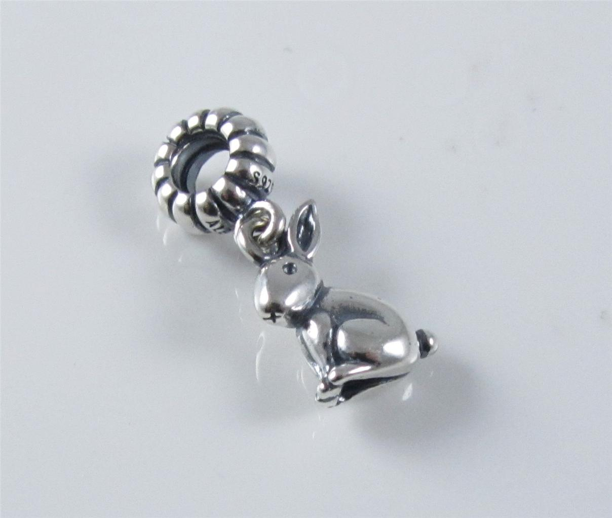 authentic genuine pandora silver rabbit dangle charm