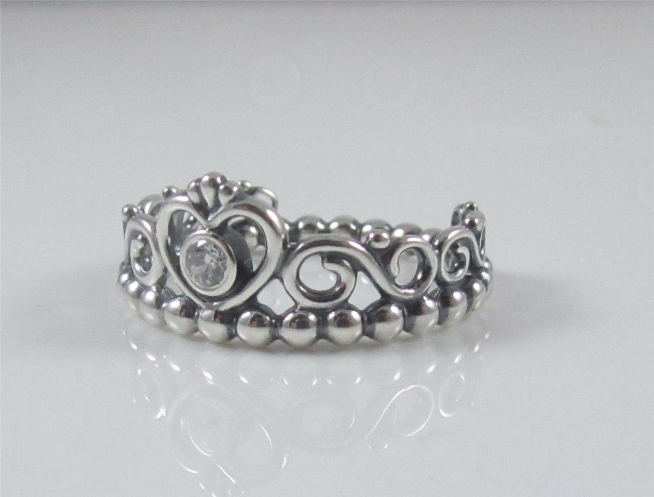 authentic genuine pandora sterling silver clear cz tiara