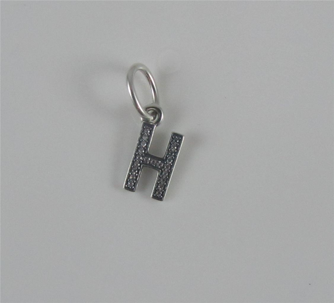 Authentic genuine pandora silver letter h dangle charm for Letter h pandora charm