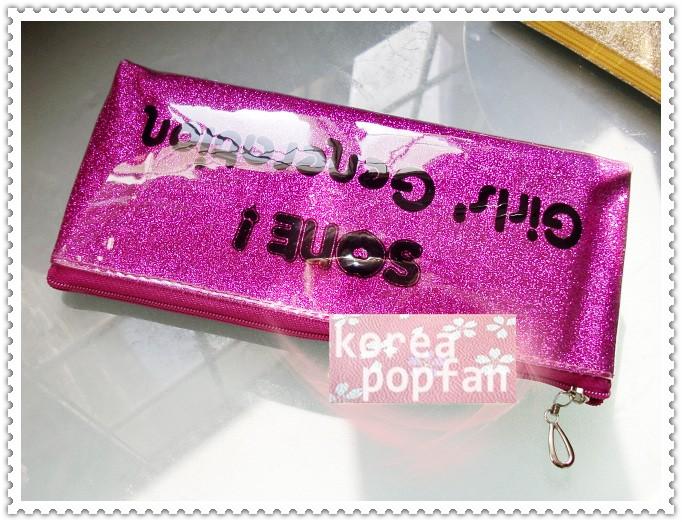 SNSD girls Generation KPOP PINK PEN PENCIL CASE TYPE A NEW