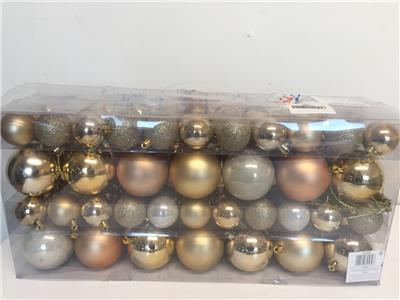 94 piece christmas gold hanging baubles star tree for Christmas decoration 94