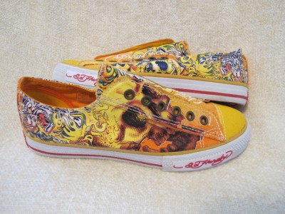 on Ed Hardy Womens Girls Yellow Tiger Lowrise Casual Fashion Sneaker 7