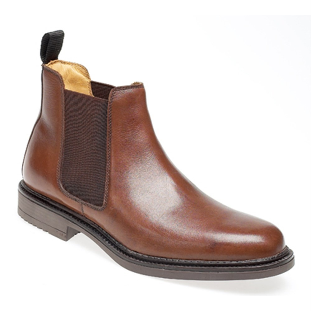 mens brown real leather chelsea boot ebay