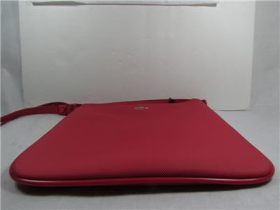 LACOSTE FLAT CROSSOVER CROSSBODY BAG MESSENGER SHOULDER BAG PINK ...