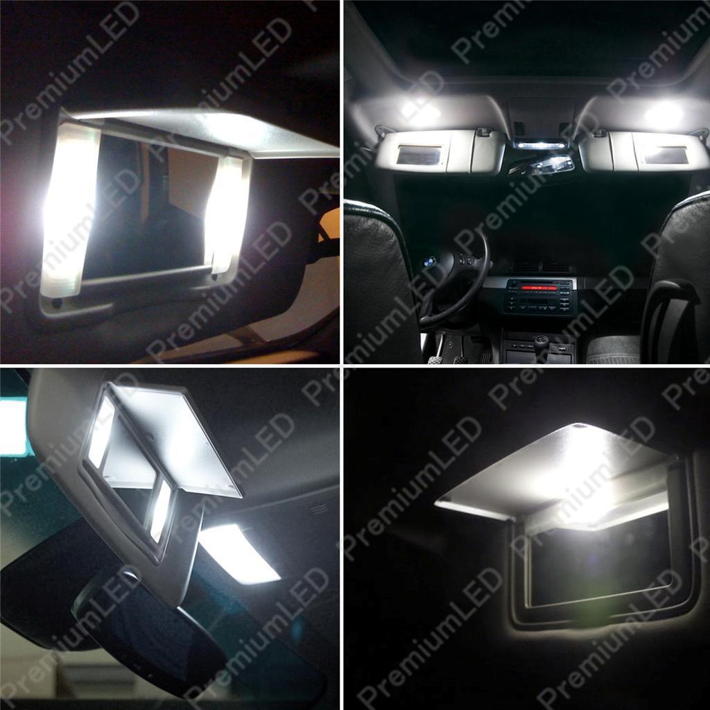 Xenon White 3-SMD 6641 LED Bulbs For Car Vanity Mirror Lights Sun Visor Lamp #25 eBay