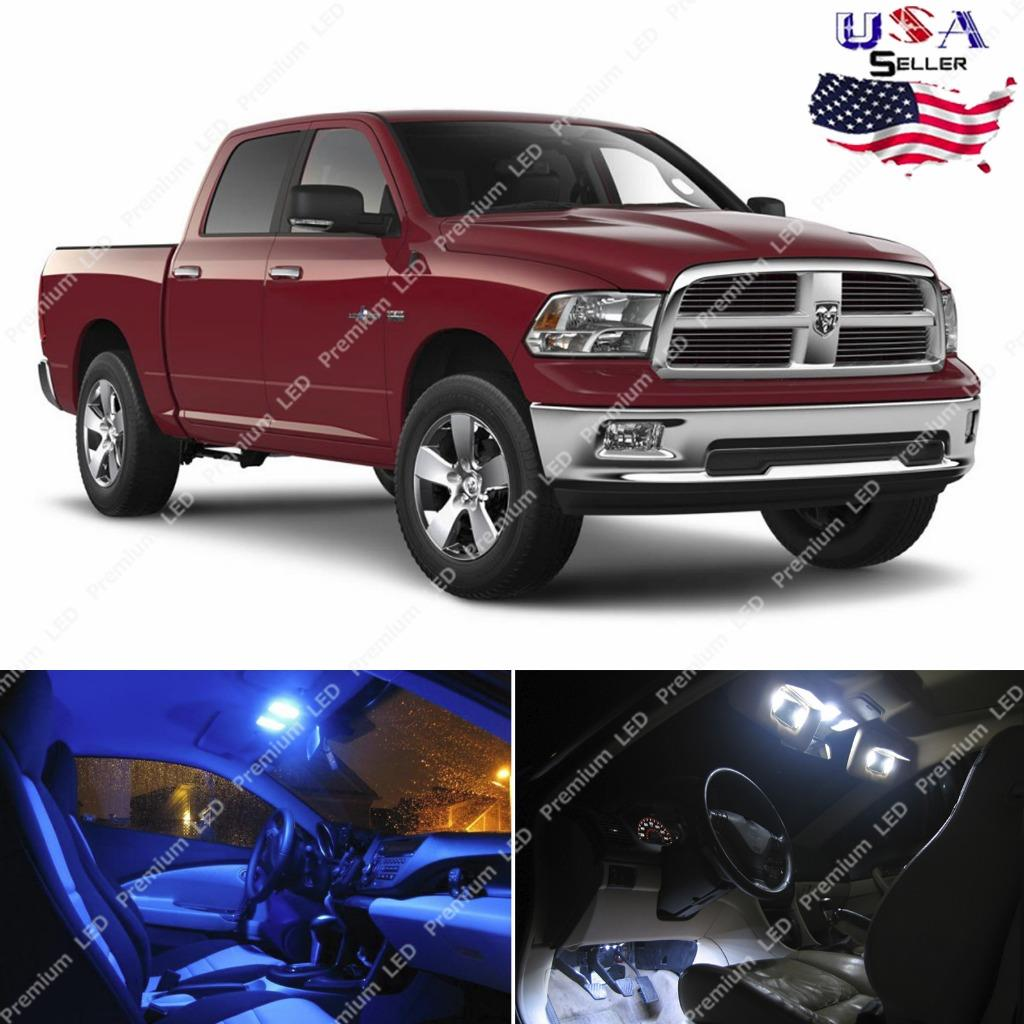 8x Light Bulbs Smd Interior Led Lights Package Kit For 2009 2014 Dodge Ram 1500 Ebay