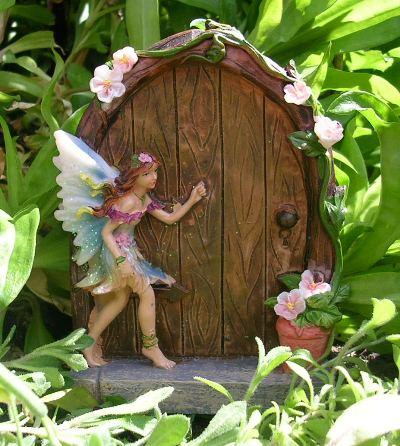 Sweet sparkle fairy faerie door home garden ornament for The faerie door