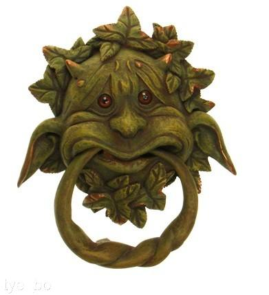 Gothic door knocker green man gargoyle tree spirit decorative use only - Green man door knocker ...