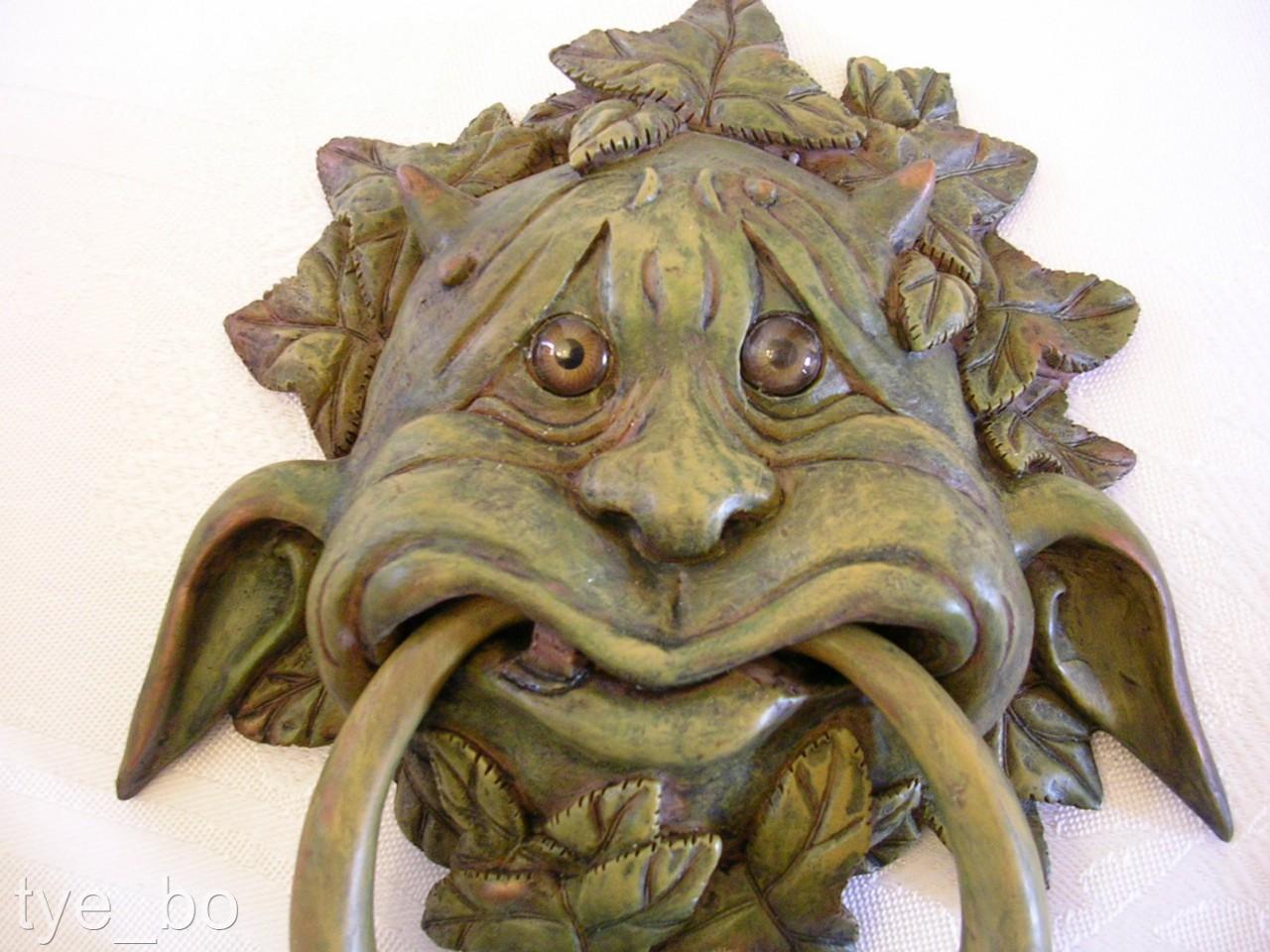 Gothic door knocker green man gargoyle tree spirit decorative use only ebay - Green man door knocker ...