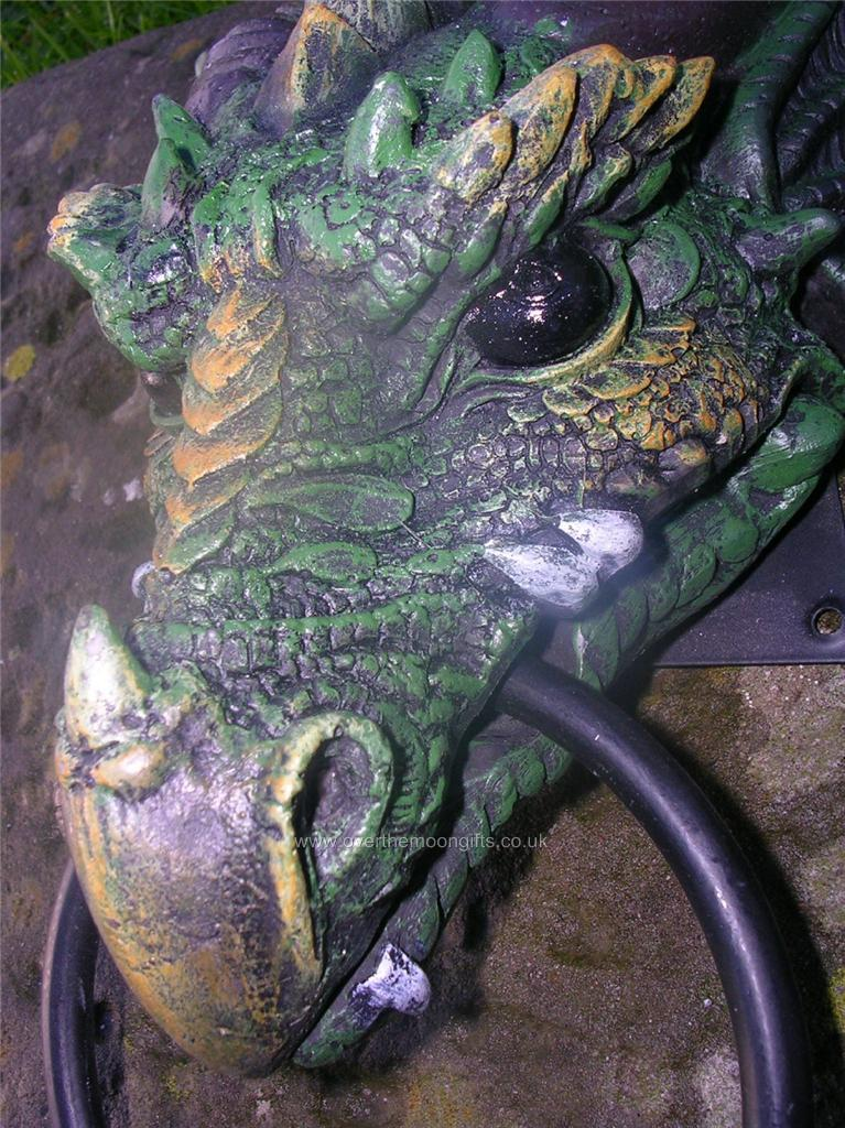 Superbly scary gothic dragon head door knocker - Gothic door knockers ...