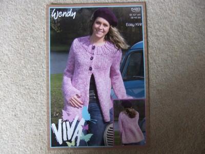 Free Crochet Pattern 60582A Matinee Swing Jacket : Lion