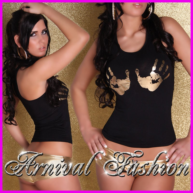NEW-SEXY-LADIES-TANK-TOP-SINGLET-size-6-8-10-WOMENS-HOT-CLUBWEAR-BLACK-SHIRT-S-M