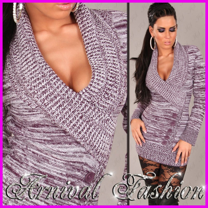 NEW-SEXY-WOMENS-JUMPER-DRESS-sz-6-8-10-12-14-LADIES-CASUAL-SWEATER-TOP-pink-grey