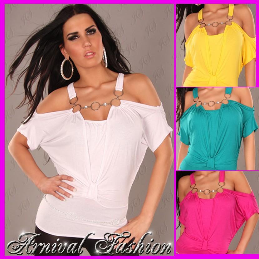 NEW-SEXY-WOMENS-DESIGNER-TOP-size-6-8-10-LADIES-FASHION-SHIRT-pink-CLUBWEAR-S-M