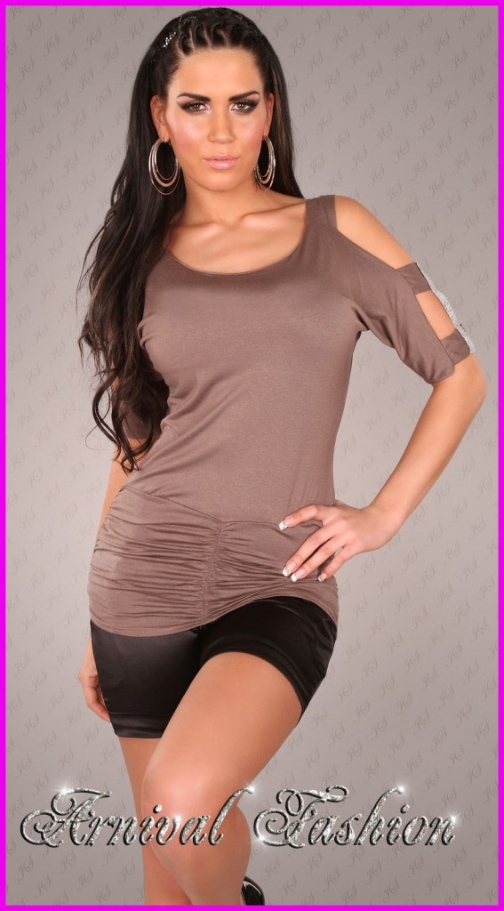 Details about NEW SEXY WOMENS FASHION TOP 8 10 12 LADIES CASUAL CLUB
