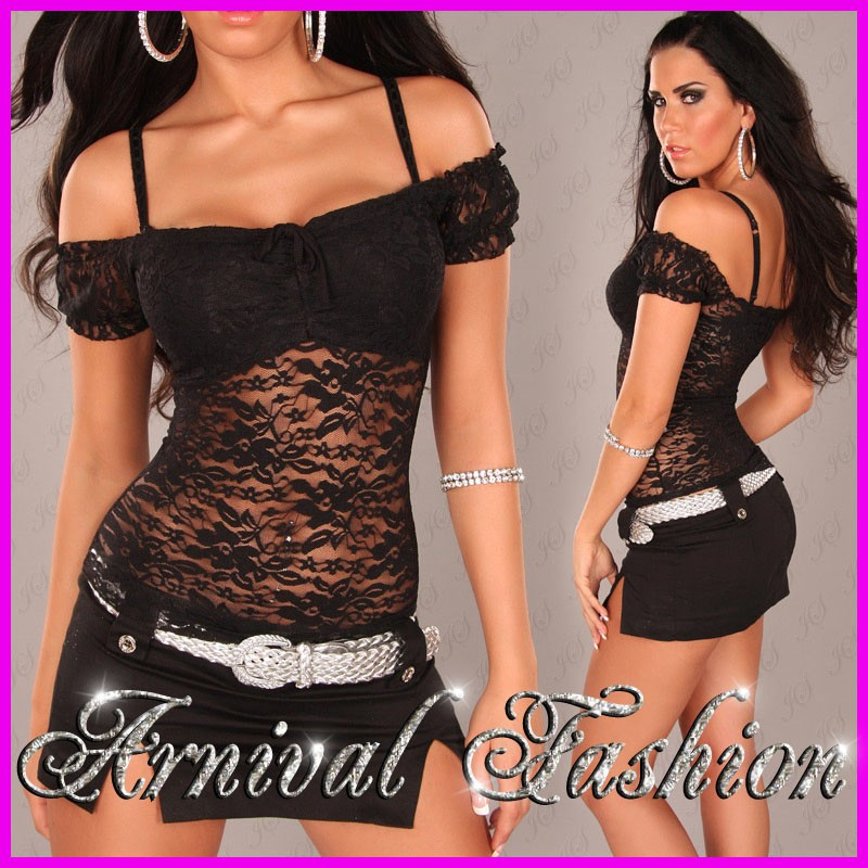 NEW Sexy Summer Tops FOR Ladies Wear Womens Casual Blouses Lace